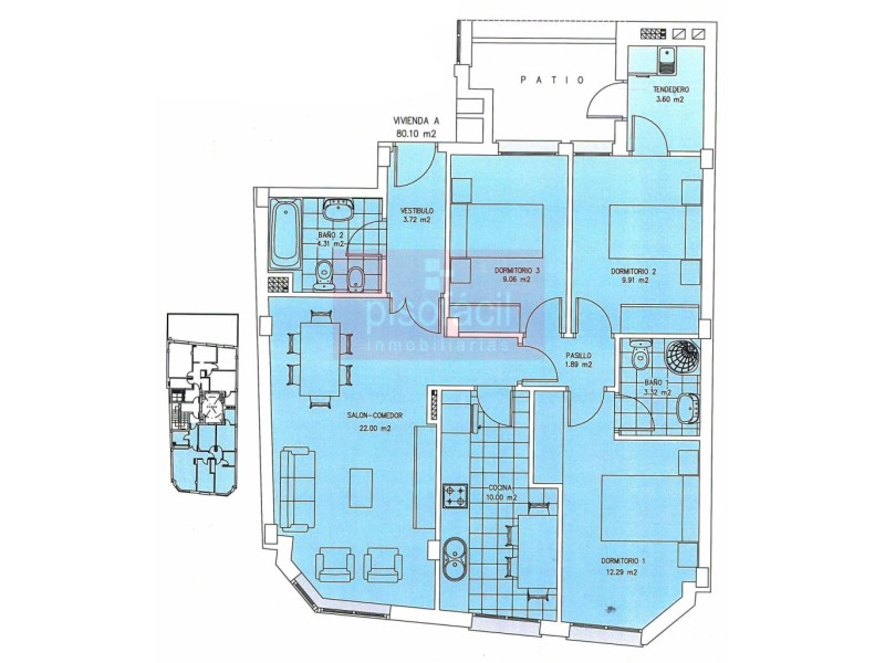 Piso en venta con 0 m2, 3 dormitorios  en A Milagrosa (Lugo), Catasol